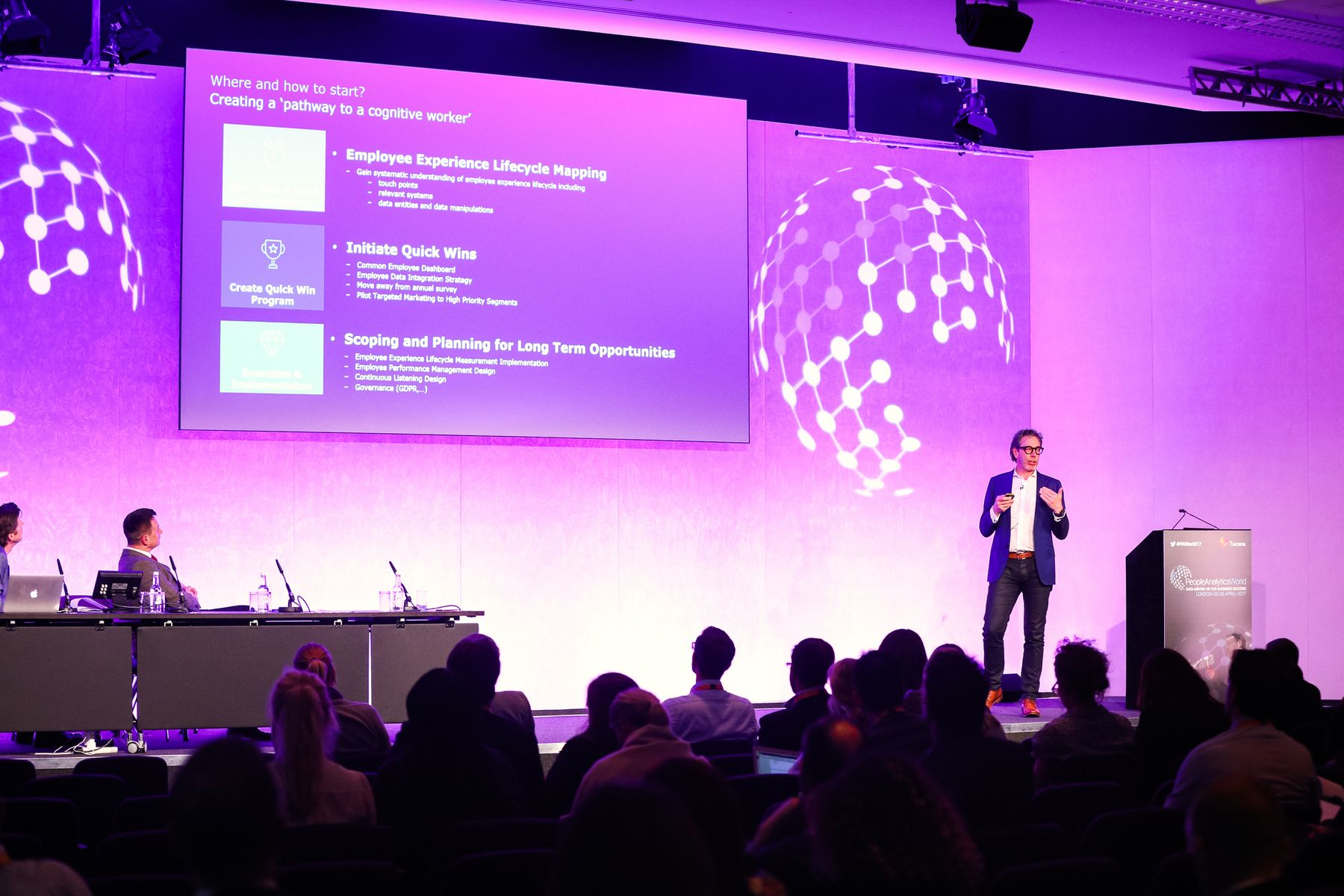 Luk Smeyers presenting at the Tucana People Analytics Conference in London